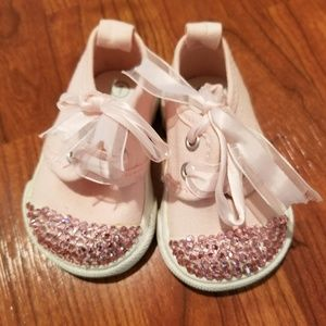 Other - NEW infant size 1 PINK RHINESTONE sneakers